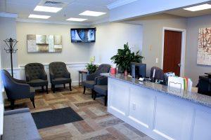 shrewsbury ma dentist reception area