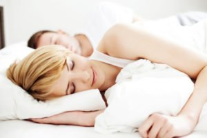 sleepingblondewoman